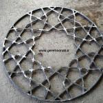 گره چینی فلزی ، گره سنتی،گره چینی مساجد،در مسجد،پنجره مسجد،نورگیر،شیشه رنگی